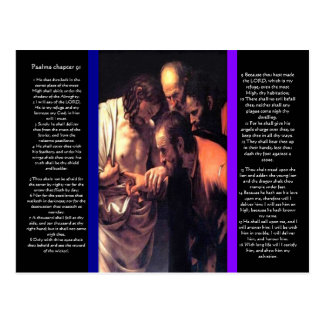 Postal del capítulo 91 de los salmos