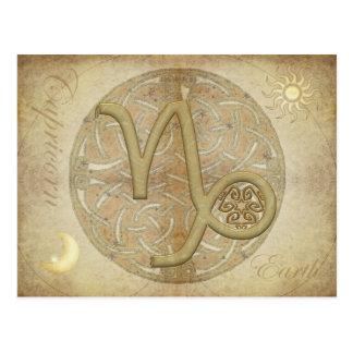 Postal del Capricornio de la muestra del zodiaco