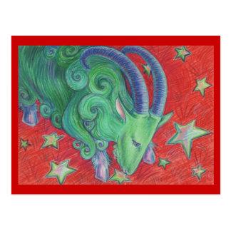 Postal del Capricornio del zodiaco