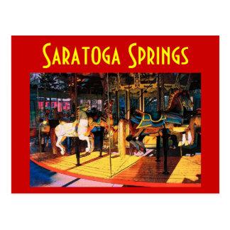 Postal del carrusel de Saratoga - modificada para