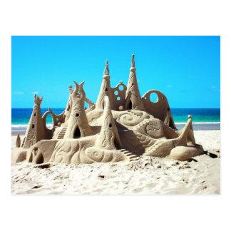 Postal del castillo de arena de la playa de Noosa
