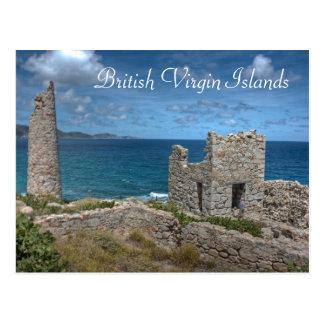 Postal del castillo de British Virgin Islands