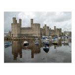 Postal del castillo de Caernarfon