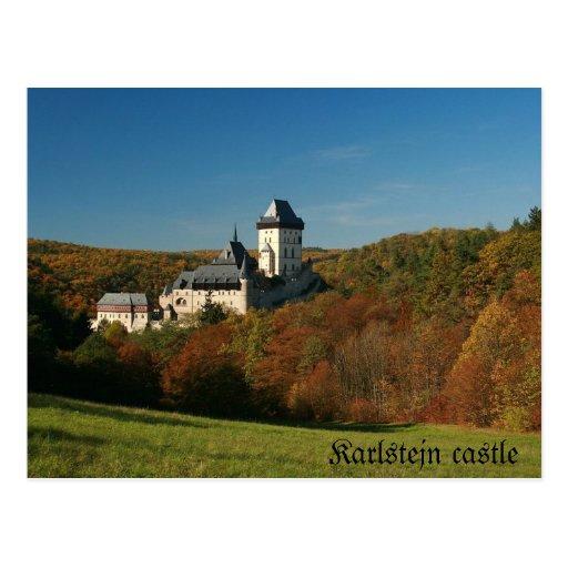Postal del castillo de Karlstejn