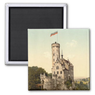 Postal del castillo de Lichtenstein Imán Cuadrado