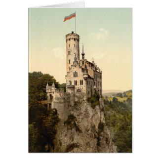 Postal del castillo de Lichtenstein Tarjeta De Felicitación