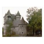 Postal del castillo francés de Auvergne