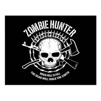 Postal del cazador del zombi