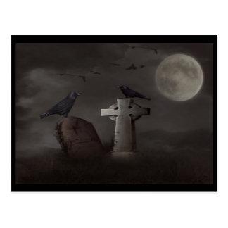 postal del cementerio del cuervo