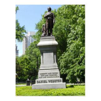 Postal del Central Park NY de la estatua de Daniel