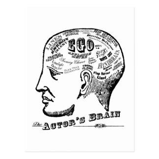 Postal del cerebro del actor