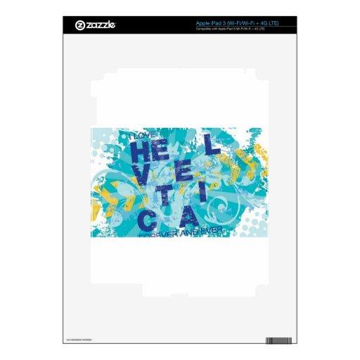 Postal del chapoteo del agua iPad 3 pegatinas skins