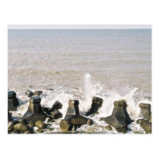 postal del chapoteo y de las playas