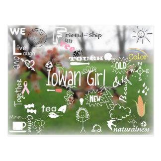 Postal del chica de Iowan