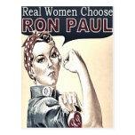 Postal del chica de Ron Paul