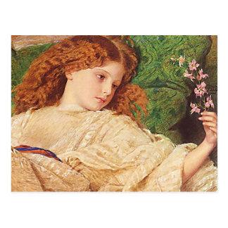 Postal del chica del flor