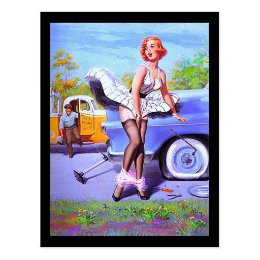 postal del chica del Pin-para arriba de los años 5