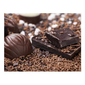 Postal del chocolate de la tentación