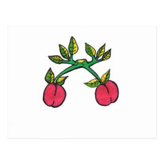 Postal del choque de la cereza……