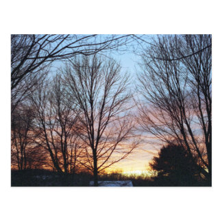 Postal del cielo de diciembre