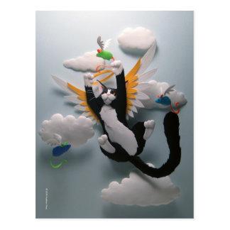 Postal del cielo del gato