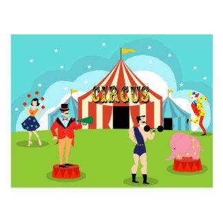 Postal del circo del vintage