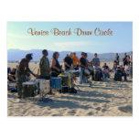 ¡Postal del círculo del tambor de la playa de Vene