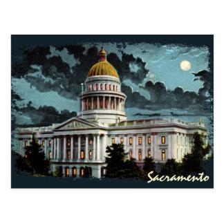Postal del claro de luna del capitolio del estado