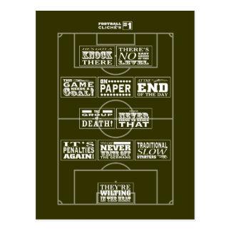 Postal del cliché No 1 del fútbol