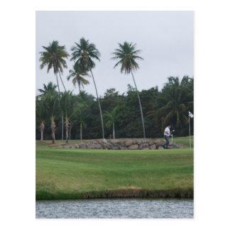 Postal del club de campo del golf