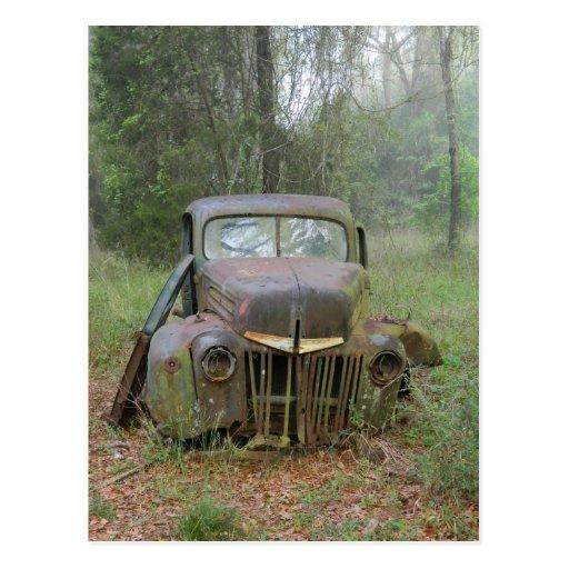 Postal del coche antiguo