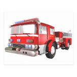 Postal del coche de bomberos
