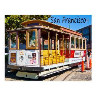 Postal del coche de carretilla de San Francisco