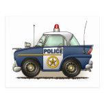 Postal del coche del poli de Crusier de la policía