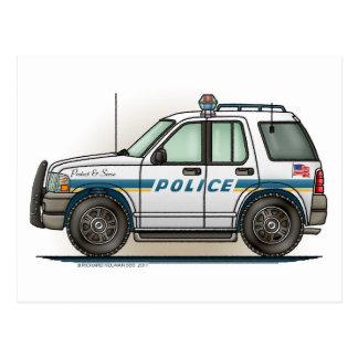 Postal del coche del poli del coche del crucero de