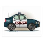 Postal del coche del poli del coche del intercepto