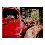 postal del coche del vintage