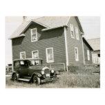 postal del coche del vintage de los años 20