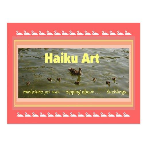 Postal del coleccionable del arte del Haiku de los
