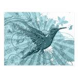 Postal del colibrí del Grunge