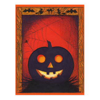 Postal del collage de la calabaza de Halloween