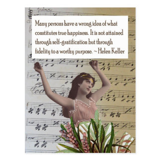 Postal del collage de la cita de Helen Keller