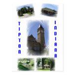 Postal del collage de Tipton Indiana