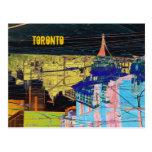 postal del collage de Toronto de la noche