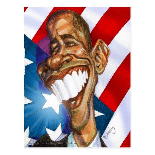 Postal del color de Obama Omage