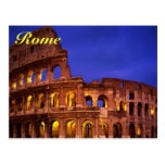 postal del colosseum de Roma