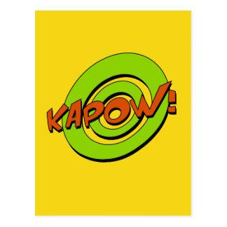 Postal del cómic de Kapow