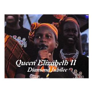 Postal del concierto del jubileo de diamante de la