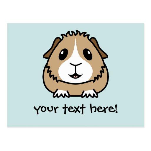 Postal del conejillo de Indias del dibujo animado