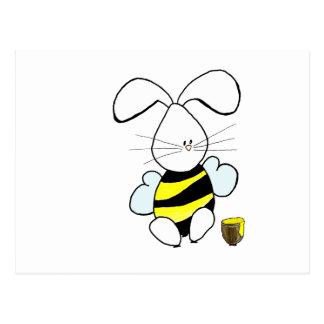 Postal del conejito de la miel